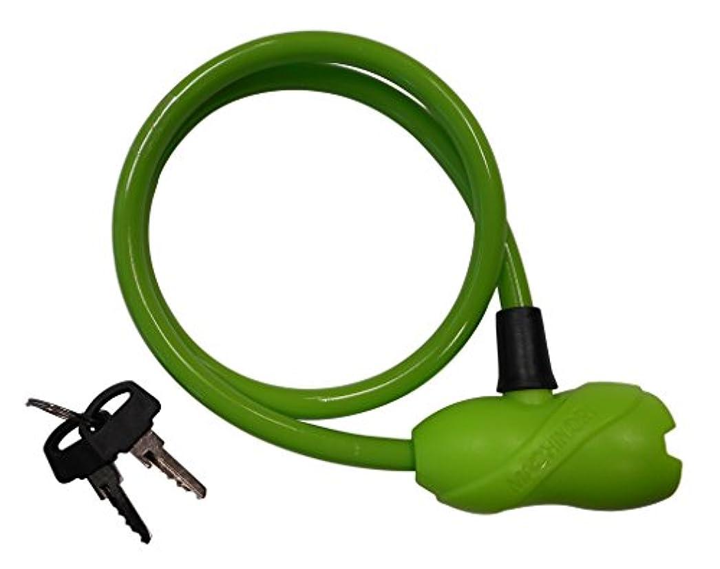 鉛筆トラクター服を着る自転車 鍵 マチノリプラス シリンダーロック 60cm グリーン 72526