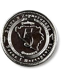 ボスニアコインラペルピン、ネクタイタック、クラヴァットピン、古銭、コインコレクターのギフト、ギフトボックス付属