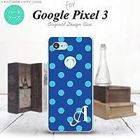 Google Pixel 3 スマホケース カバー ドット・水玉 青 【対応機種:Google Pixel 3】【アルファベット [C]】