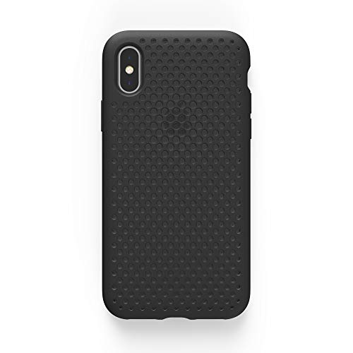 AndMesh iPhone X ケース メッシュケース Qi 充電 対応 耐衝撃 | 黒 ブラック AMMSX001-BLK