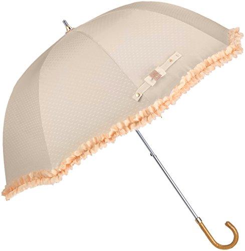 (ランバン オン ブルー)LANVIN en Bleu 晴雨兼用 日傘 【遮熱&遮光】 長傘 大きい 50cm 深張りシルエット フリル