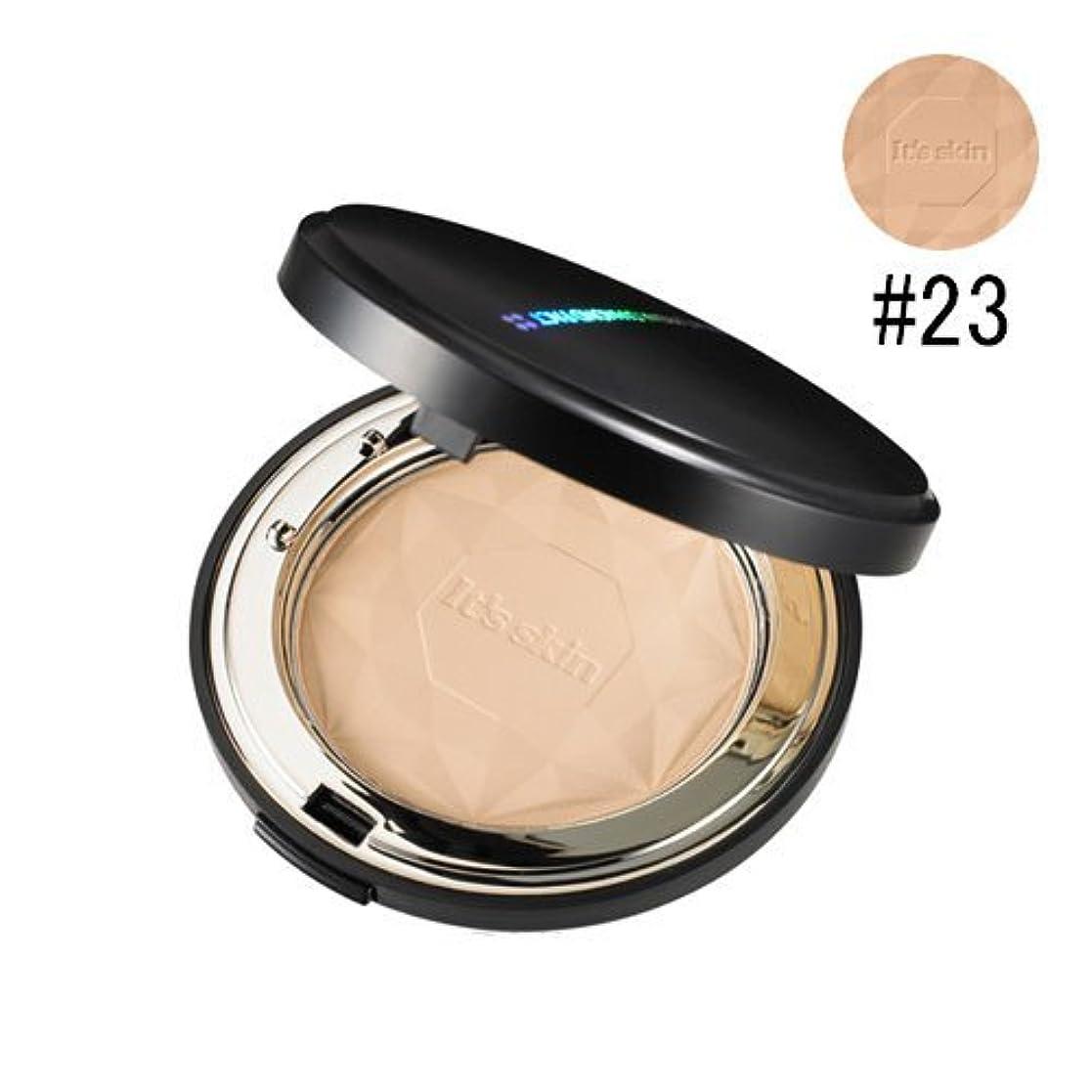 カメラ告発者オーロックIt's skin イッツスキン プリズマ ダイアモンドパクト SPF25 PA++# 23号ナチュラルベージュ