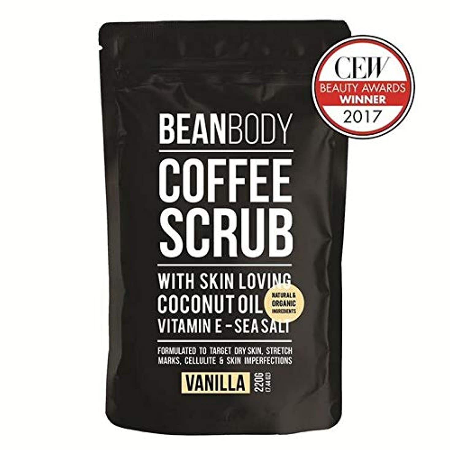 違法付ける許容できる[Bean Body ] 豆のボディスクラブコーヒー、バニラ220グラム - Bean Body Coffee Scrub, Vanilla 220g [並行輸入品]