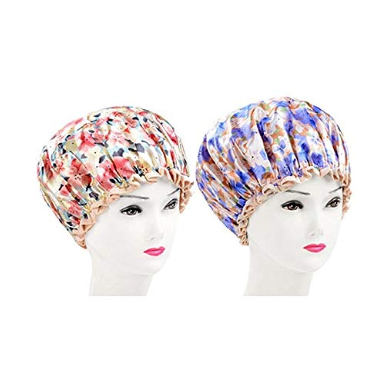 イディオムさまよう魅了するJJESC シャワーキャップ、女性のすべての髪の長さと厚さのためのレディースシャワーキャップデラックスシャワーキャップ - 防水やカビ耐性、再利用可能なシャワーキャップ。 (Color : 4)
