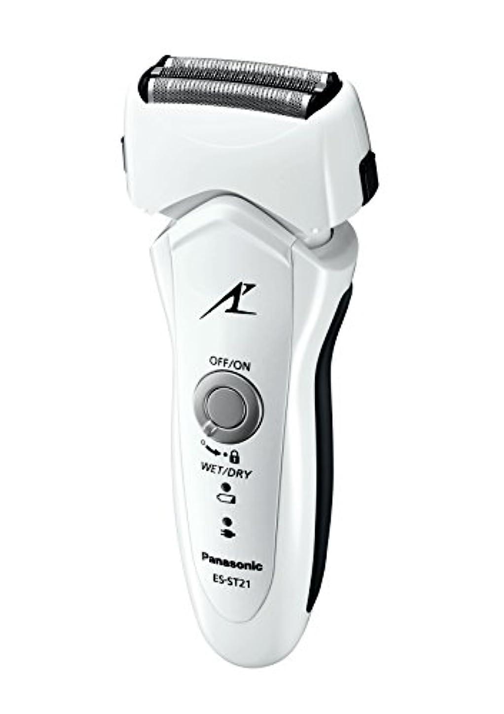 アジテーション注釈規制パナソニック ラムダッシュ 3枚刃 白 ES-ST21-W
