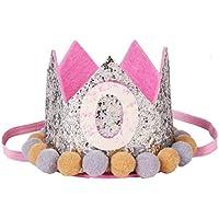 (ビグッド) Bigood ベビー 王冠 クラウン 帽子 ヘアバンド パーティー ヘアアクセサリー 記念日用 撮影用 お誕生日用 髪飾り