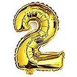 RICISUNG ちょうど良い大きさ 数字バルーン ゴールド 誕生日 ウェディング パーティーに (2)