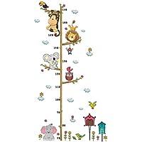 NUOLUX 身長計 シール 身長ステッカー 成長チャート 子供身長計 動物 ウォールステッカー 70-170cm 幼稚園 子供用