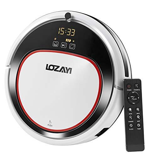 LOZAYI ロボット掃除機 超薄型 吸い・拭き両用 超強力清掃 4清掃モー...