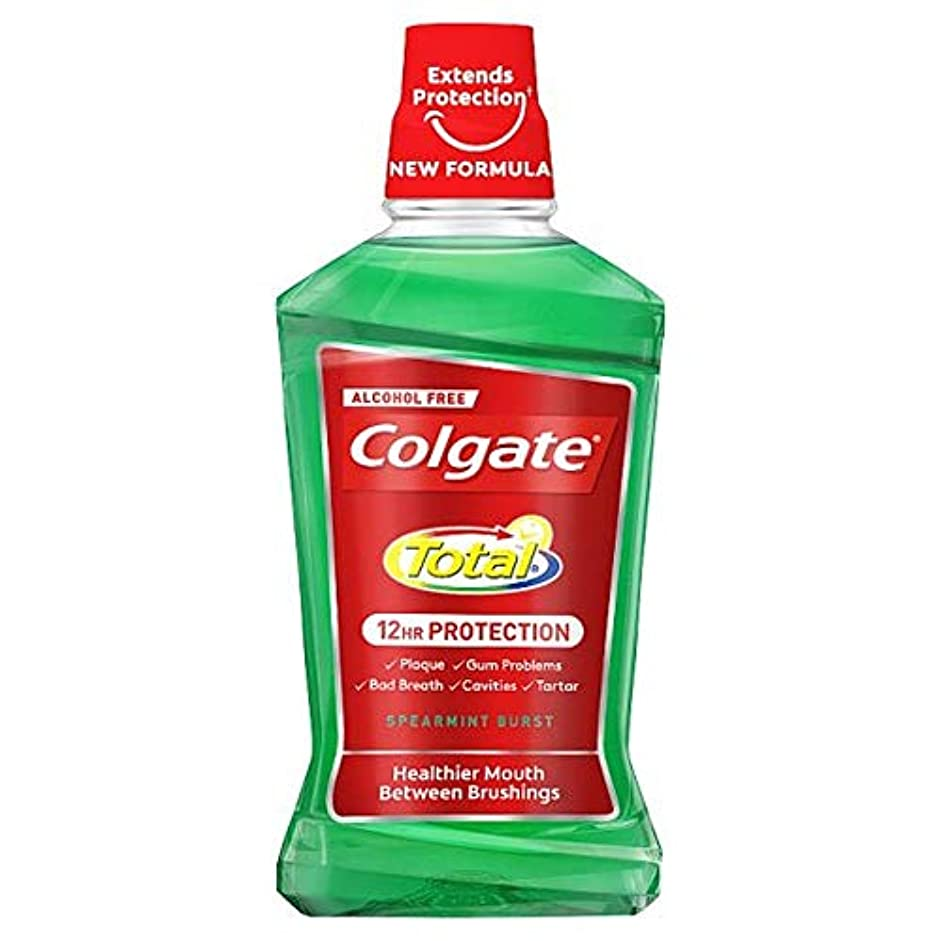 乱暴な受信犯す[Colgate ] コルゲートトータル高度なスペアミントマウスウォッシュ500ミリリットル - Colgate Total Advanced Spearmint Mouthwash 500Ml [並行輸入品]