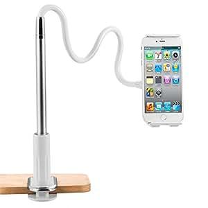 スマホ アーム タブレットスタンド 4〜10.6インチ対応 フレキシブルアーム グリップ式 iPhone iPad air mininaなどへの対応できる
