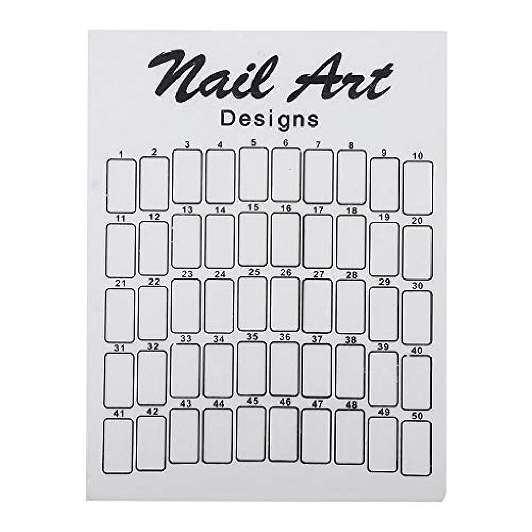 キリスト教通知緊張するネイルカラーカード 50Pcs ネイルサロン 自宅用 ガラス 28.5×20.9×7.5cm