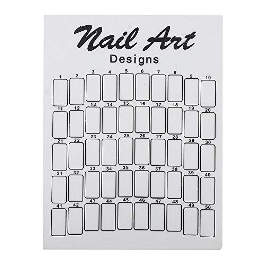 ネイルカラーカード 50Pcs ネイルサロン 自宅用 ガラス 28.5×20.9×7.5cm