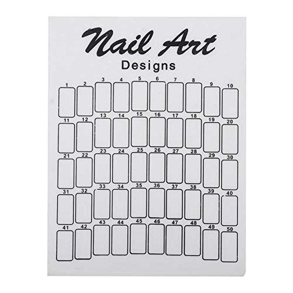 馬鹿タンクウールネイルカラーカード 50Pcs ネイルサロン 自宅用 ガラス 28.5×20.9×7.5cm