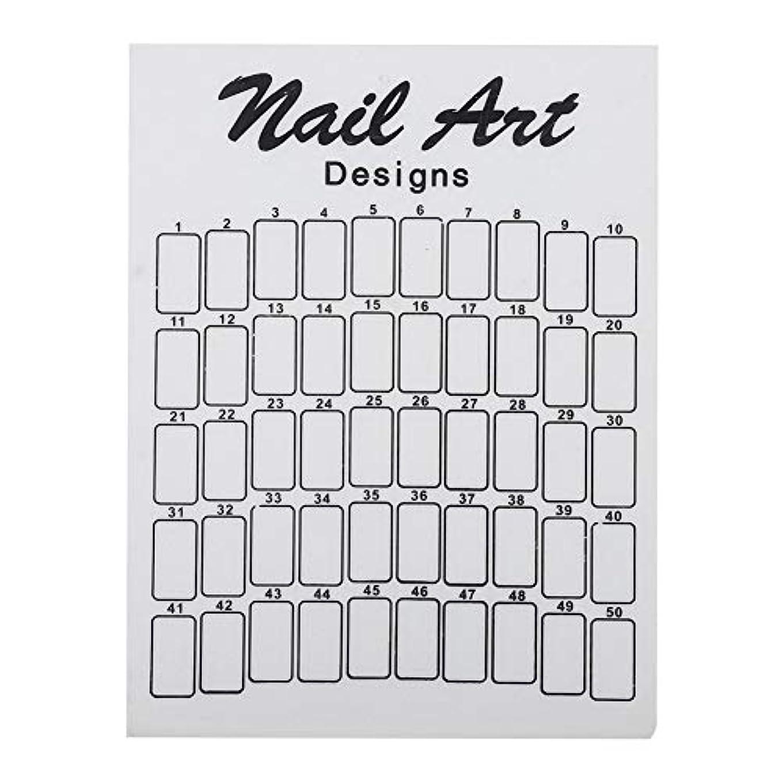費やす取得削除するネイルカラーカード 50Pcs ネイルサロン 自宅用 ガラス 28.5×20.9×7.5cm