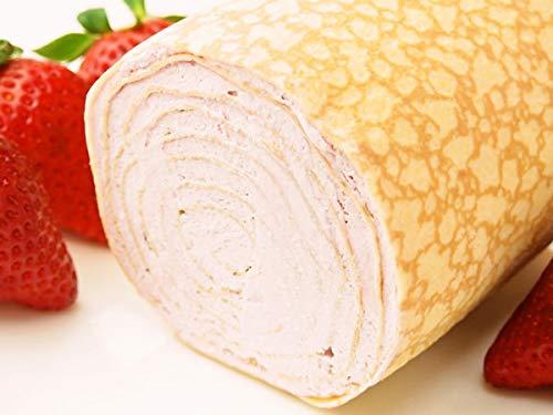 FLAVORS みんな大好きいちごのミルクレープロールはいかがでしょう♪ お口にいちごの香りがひろがります??