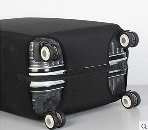 (ヨーテイ)Youtei スーツケース カバー 保護袋 18インチ~32インチ (S(18インチ-20インチ), ブラック)