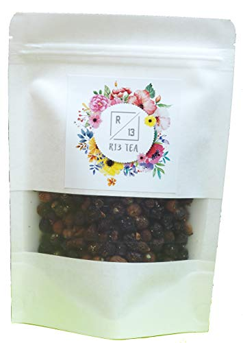 R13 Tea 世界のハーブ&フラワーティー ローズヒップ Rose hips 50グラム オーガニックティー 味付けや添加物不使用 素材そのままの味 美容健康効果 (ローズヒップ)