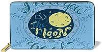天文学スペースマップスタイルテーマバレンタインワードパートナー漫画レディース長財布、エレガントな手、財布、財布、クレジットカード