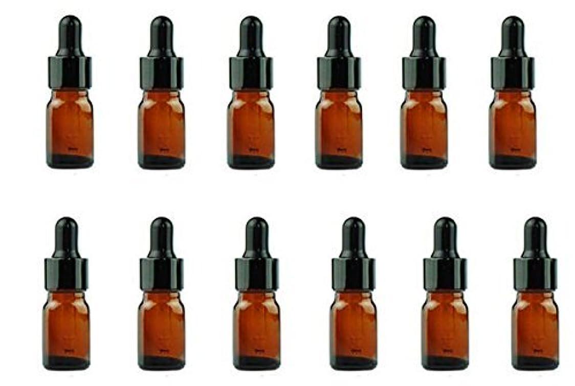 裁定ウガンダソート12PCS Amber Empty Refillable Glass Eye Dropper Bottles With Black Dropping Cap Makeup Cosmetic Essential Oil Sample Containers With Glas Pipette (5ml) [並行輸入品]