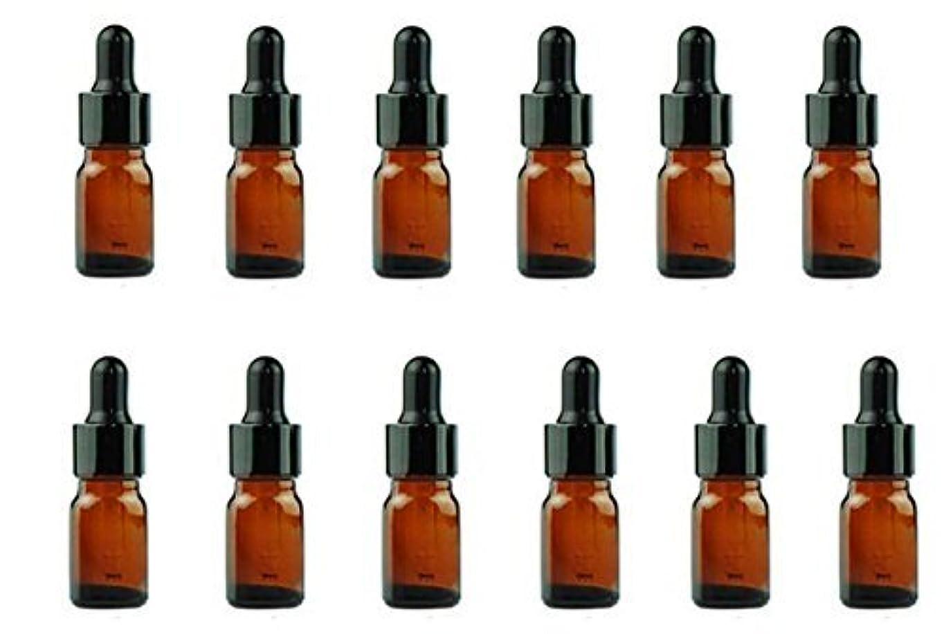 反対した年金受給者財布12PCS Amber Empty Refillable Glass Eye Dropper Bottles With Black Dropping Cap Makeup Cosmetic Essential Oil Sample...