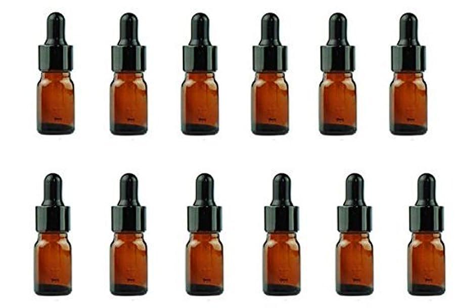 偽物思春期謙虚な12PCS Amber Empty Refillable Glass Eye Dropper Bottles With Black Dropping Cap Makeup Cosmetic Essential Oil Sample...
