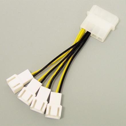 アイネックス ファン用電源4分岐ケーブル CA-864