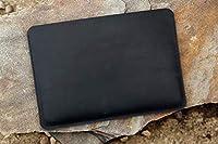 2018-2016 2019マックブックプロ13インチ ブラックレザーケース オイルタンニンなめし牛革 ラップトップバックカバー 2019 2018-2016Macbook pro 13 inch収納適用 黒色 MACX11S-18MP13