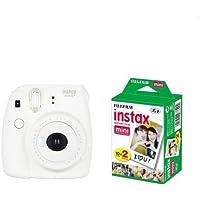 FUJIFILM インスタントカメラ instax mini 8+(プラス) バニラ&フイルム20枚セット