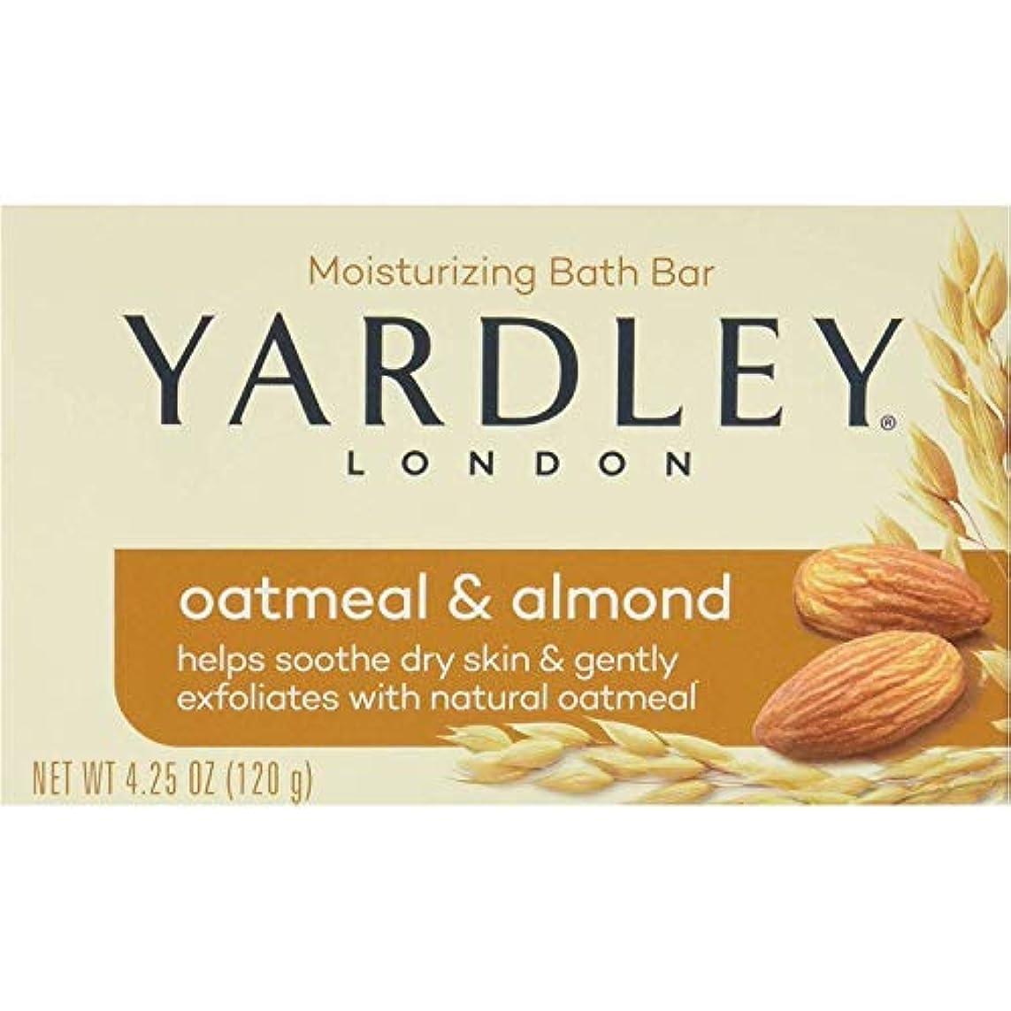 幻滅ある従来のYardley オートミールとアーモンド石鹸、4.25オズ。 20本のバー