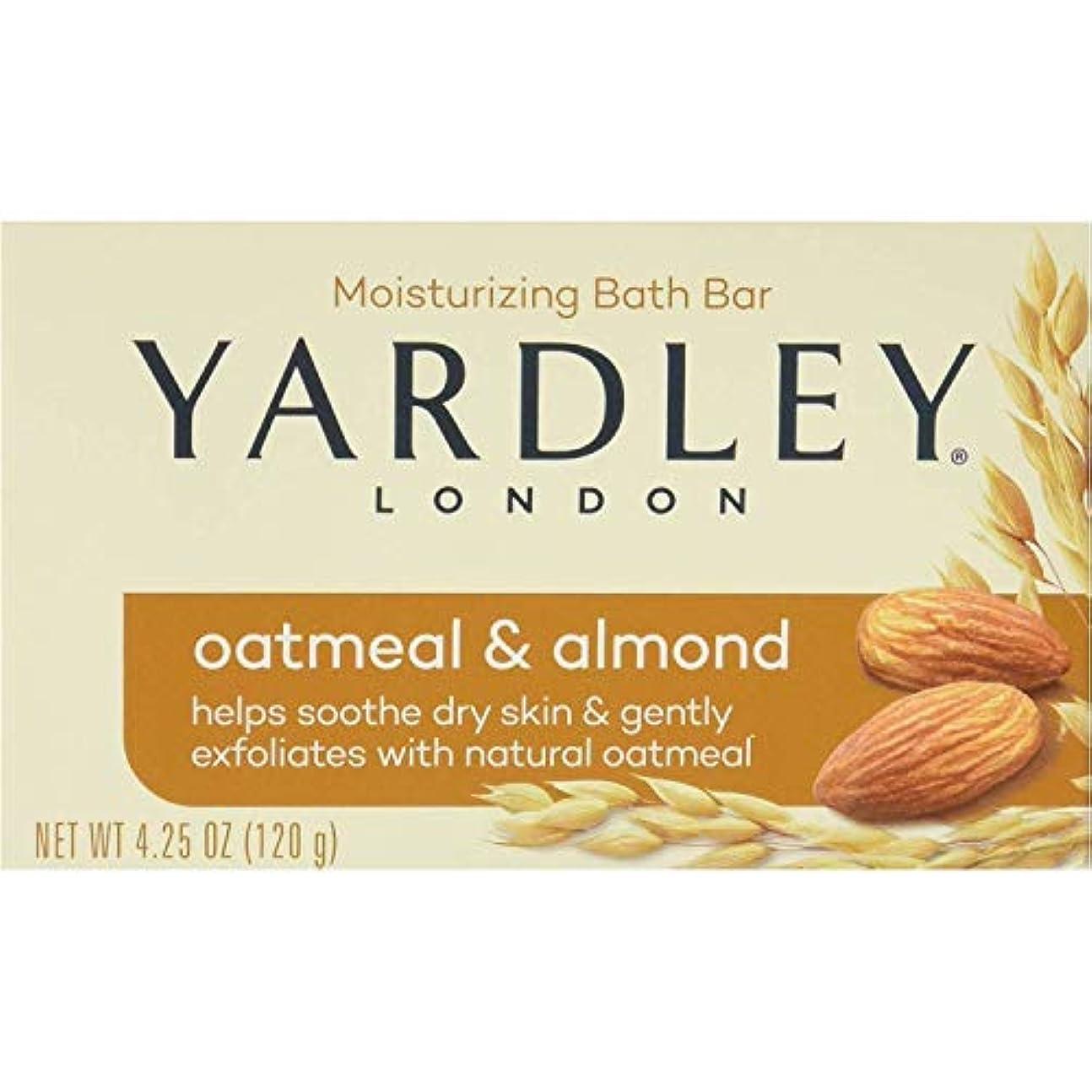 品揃え添加剤蜜Yardley オートミールとアーモンド石鹸、4.25オズ。 20本のバー