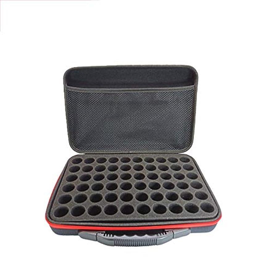 緩やかな不健康飼料精油ケース エッセンシャルオイルキャリングケースは、60本のボトルを保持15mlのトラベルオーガナイザーポーチバッグ(ブラック) 携帯便利 (色 : ブラック, サイズ : 32X22X9CM)