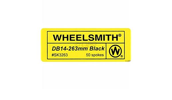 Wheelsmith 2.0//1.7 x 282mm Black Spokes Bag of 50.