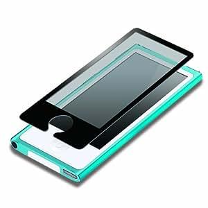 iJacket iPod nano 第7世代 液晶保護フィルム 気泡ZERO指紋防止タイプ ブラック PG-IPNA7ZRAGBK