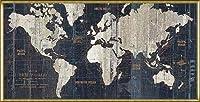 ポスター アーティスト不明 Old World Map Blue 額装品 アルミ製ハイグレードフレーム(ゴールド)
