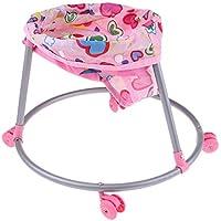 P Prettyia ピンク 組み立ておもちゃ ベイビー人形用 ベビーカー ドールハウス家具