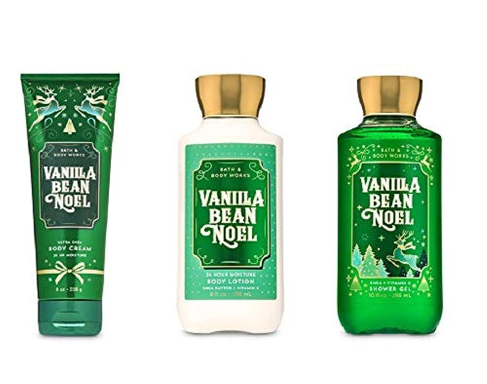 達成一月コーナーバスアンドボディワークス クリスマス期間限定の香り 3点セット (バニラビーンノエル) [並行輸入品]