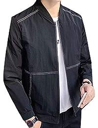 Fly Year-JP メンズファッションスリムジャケットスポーツウェアウインドブレーカー軽量ボンバージャケット