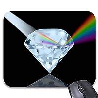 マウスパッド通気して傷を防ぐレインボーダイヤモンドマウスマット