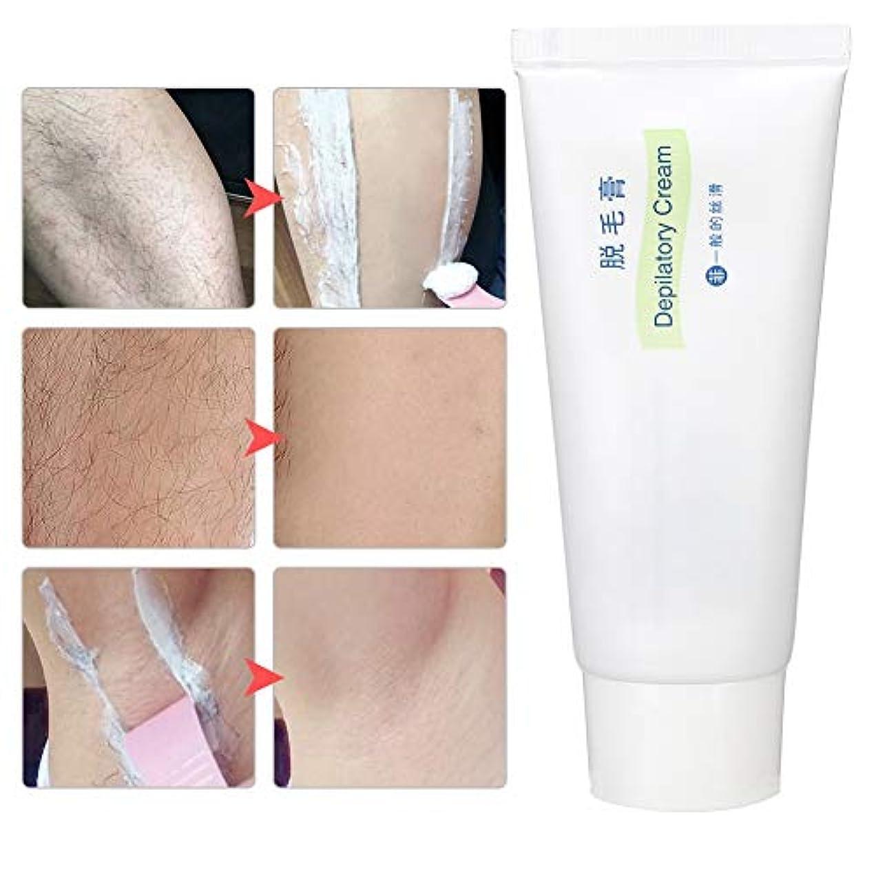 告発追放する確実60g脱毛クリーム、穏やかで痛みのない脱毛クリーム、ボディ脇の下の脚のビキニエリアの皮膚脱毛剤シンプルで高速。