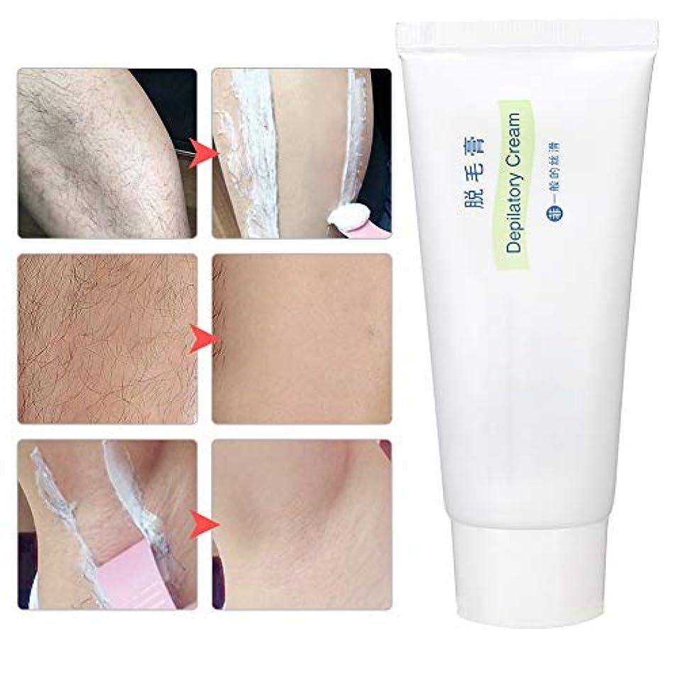 装備する結紮水差し60g脱毛クリーム、穏やかで痛みのない脱毛クリーム、ボディ脇の下の脚のビキニエリアの皮膚脱毛剤シンプルで高速。