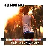 BlueFire LEDベルトライト ランナーベルト ランニングライト USB充電式 ジョギングライト 高視認性 安全 防水 夜間 スポーツ 散歩 自転車 サイクリング ハイキング 長さ調節 男女兼用 リモコンバンド付き