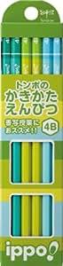 トンボ鉛筆 鉛筆 ippo! かきかた 4B KB-KPN02-4B 1ダース