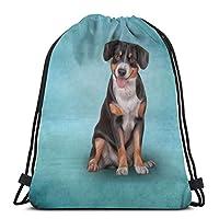 UDDesignスケッチ 山犬 ジムサック・ナップサック スポーツバック バックパック 運動 旅行 部活用 軽量 リュックサック 巾着 バッグ シューズ ケース