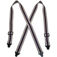 CTM Men's Elastic Plastic Clip-End TSA Compliant Airport Suspenders