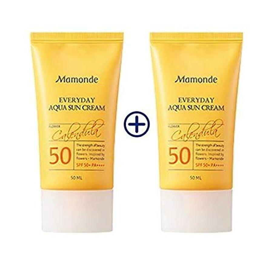 実業家締めるマネージャー[1+1] MAMONDE Everyday Aqua Sun Cream (50ml),SPF50+PA++++ 韓国日焼け止め