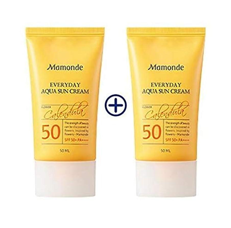 散歩パッチおばさん[1+1] MAMONDE Everyday Aqua Sun Cream (50ml),SPF50+PA++++ 韓国日焼け止め