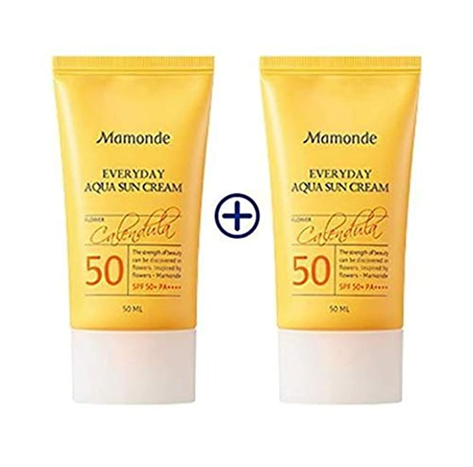 [1+1] MAMONDE Everyday Aqua Sun Cream (50ml),SPF50+PA++++ 韓国日焼け止め