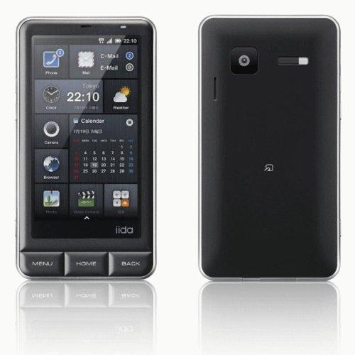 au iida INFOBAR A01 クロ(ブラック) by SHARP 白ロム携帯 標準セット品