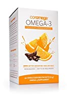 Coromega Omega-3 Fish Oil Squeeze Packets, DHA and EPA, Orange Flavor with a Hint of Chocolate, 90-Count (2.5 g) (Packaging may vary)
